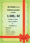 Dárkový poukaz 1500