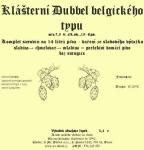 Klášterní Dubbel belgického typu 3,4kg