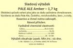 Sladový výtažek Pale Ale Amber český tekutý  1,7kg
