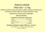 Sladový výtažek Pale Ale český tekutý světlý 1,7kg