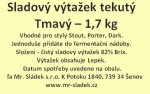 Sladový výtažek Tmavý  český tekutý 1,7kg